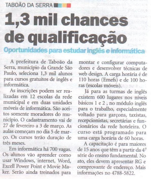 Diário de S. Paulo - Caderno Emprego Já  (19 a 25 de fevereiro)1