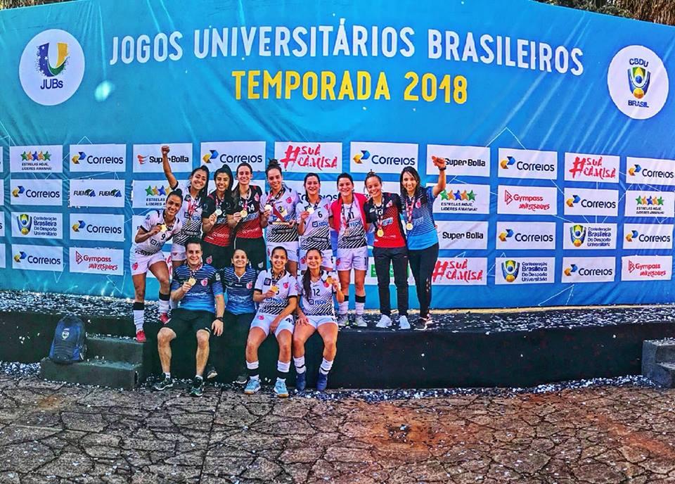 6cd88b9d84 Futsal feminino foi campeão dos Jogos Universitários
