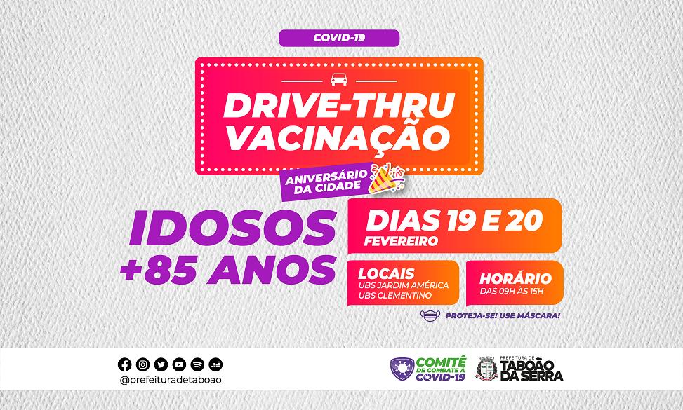 Taboão da Serra realiza drive-thru contra a COVID-19 no aniversário da cidade
