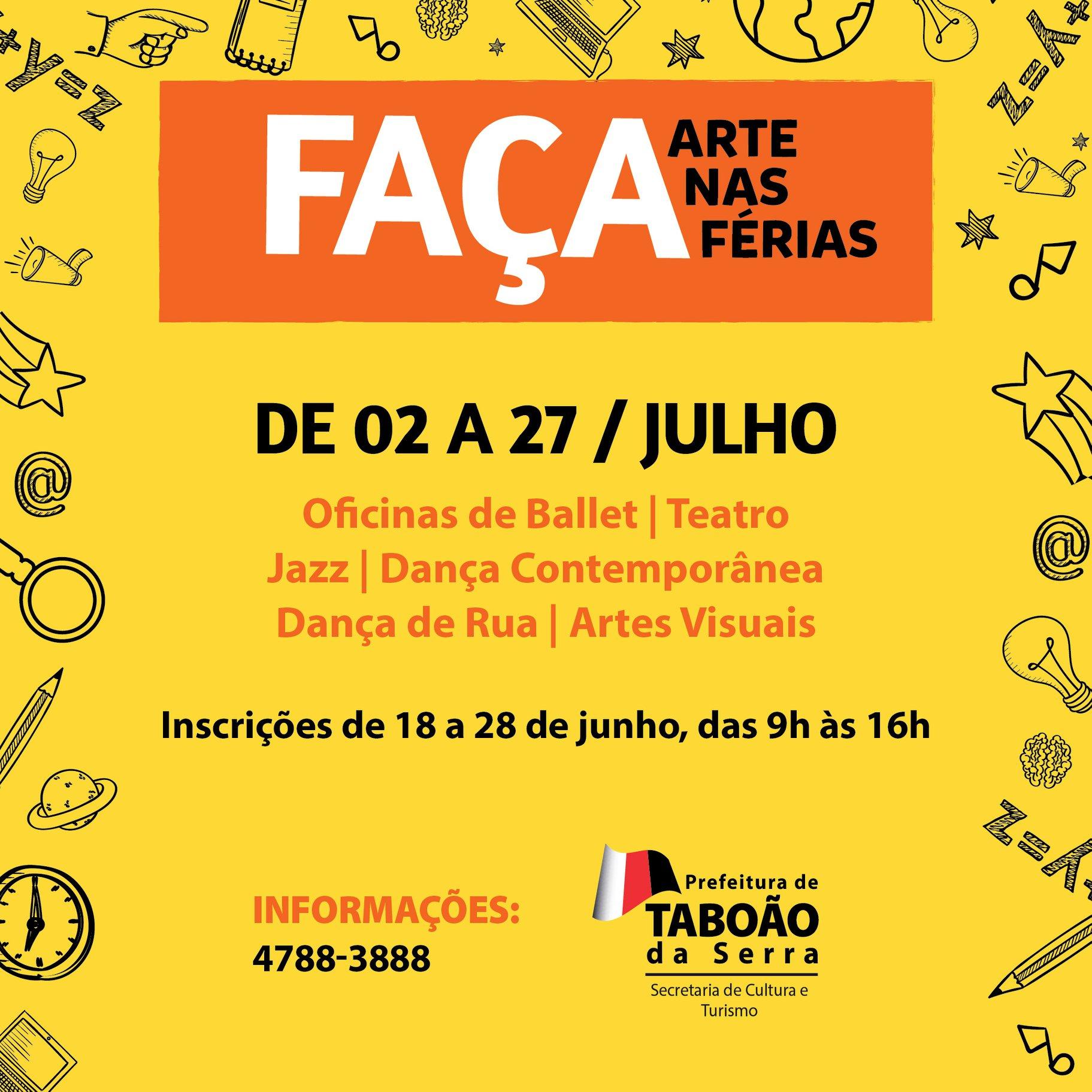 """Secretaria de Cultura está com inscrições abertas para o projeto """"Faça Arte nas Férias"""""""