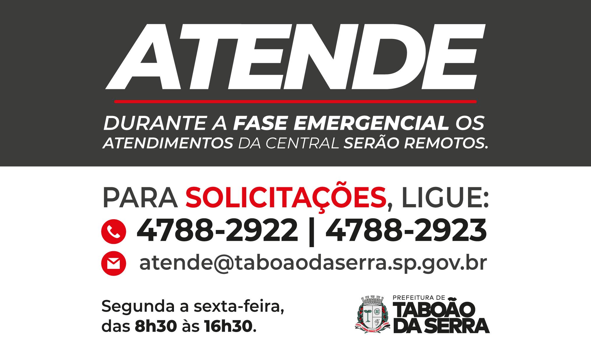 Administração adota atendimento remoto no Atende durante Fase Emergencial