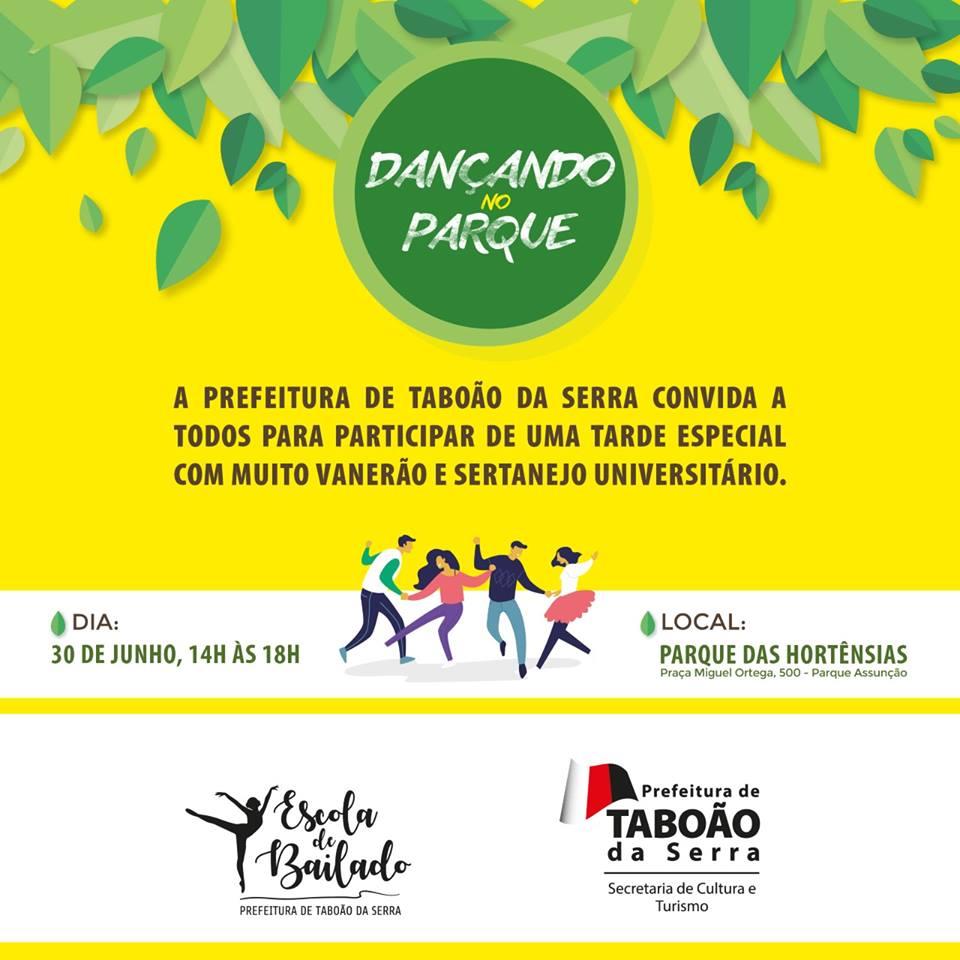 """Domingo, 30, é dia de """"Dançando no Parque"""" com aulas gratuitas"""