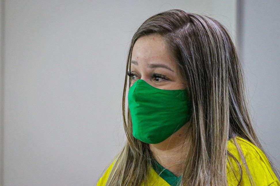 Evani Calado chega a Tóquio para os Jogos Paralímpicos