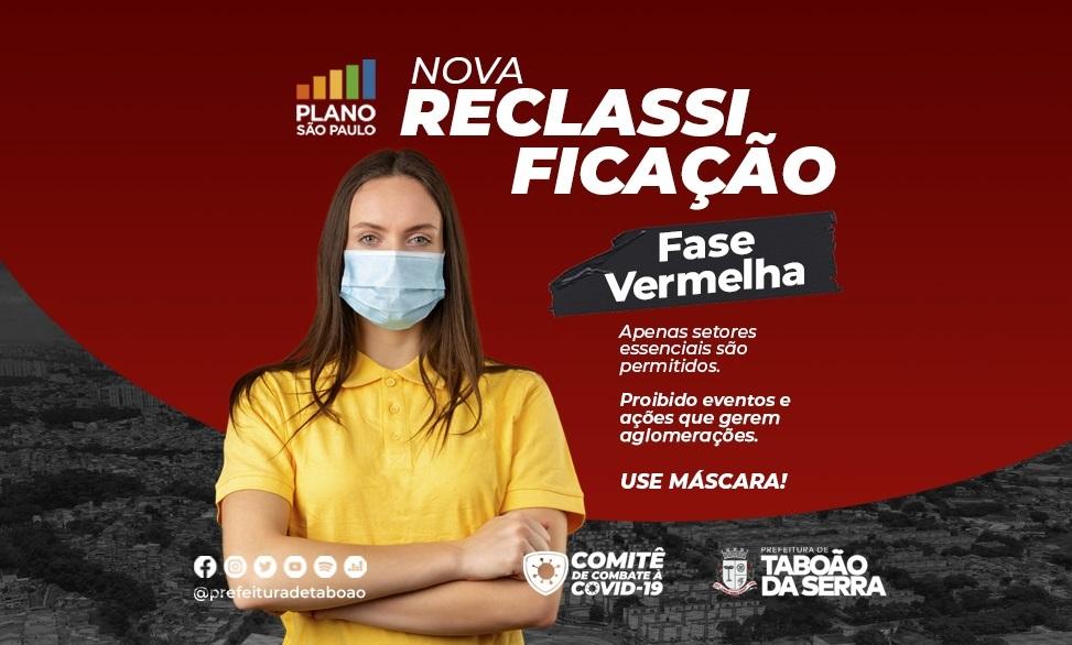 Taboão da Serra segue para a Fase Vermelha do Plano São Paulo