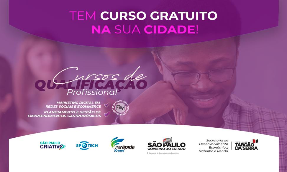 Inscrições abertas até 17/09 para cursos de capacitação pelo Via Rápida