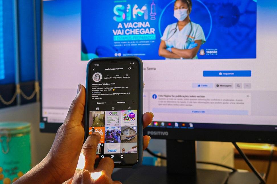 Prefeitura lança contas em redes sociais