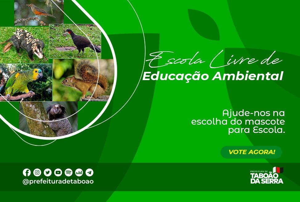 Concurso escolhe mascote da Escola Livre de Educação Ambiental